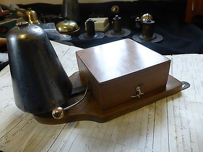 Restored Antique Wood & Brushed Steel Electric Doorbell 4-6 Volts (butlers maid)