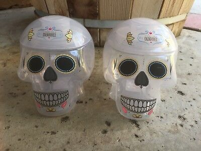 """Cazadores Tequila Skull  💀 Drink Shaker  Lot Of """"2"""" Free Priority Shipping"""