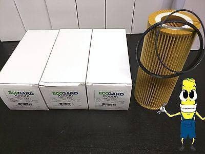 Premium Oil Filter for Audi A4 & Quattro w/ 3.2L V6 Engine 2005-2009 Pack of 3