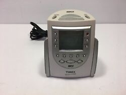TIMEX MP3 Line-In Alarm Clock Nature Sounds Triple Alarm Clock-Dimmer T158W