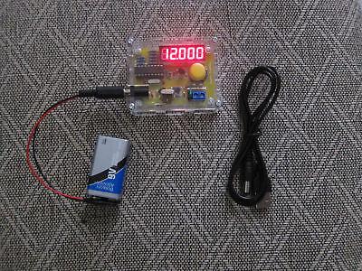 Crystal Oscillator Frequency Counter Meter Tester 12khz - 40mhz Usa Seller