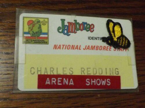 BOY SCOUT PIN NAMETAG 1973 NJ NATIONAL JAMBOREE STAFF BEE ARENA SHOWS