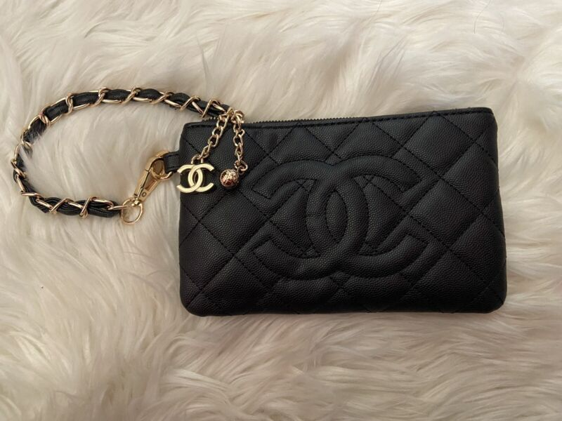 Auth CC VIP Gift Black Clutch With Box Free Shipping