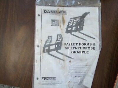 Danuser Pallet Forks Multi Purpose Grapple Operator Manual