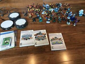Wii Skylanders 3 portals, 3 games, 38 skylanders $65