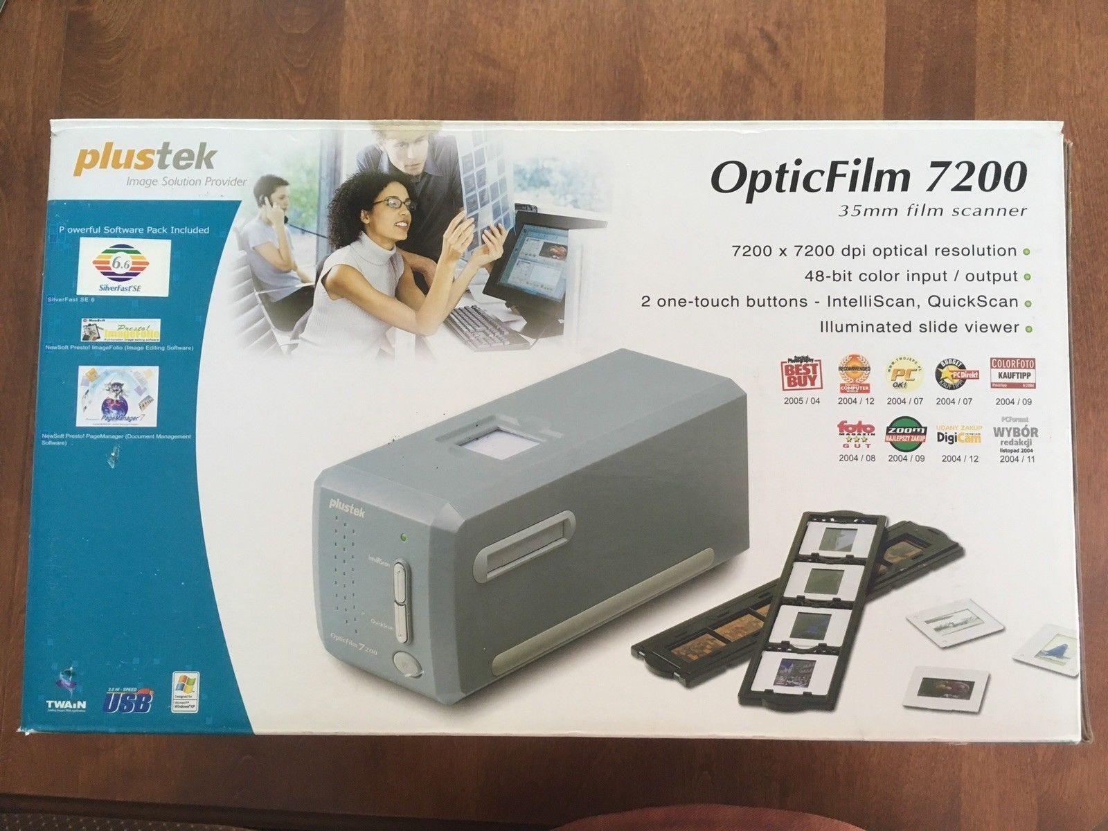 Plustek OpticFilm 7200 Photo, Slide & Film Scanner New in Op