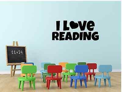 I Love Reading Classroom School Teacher Pupils Vinyl Decal Wall Decor Sticker ](Classroom Wall Decorations)