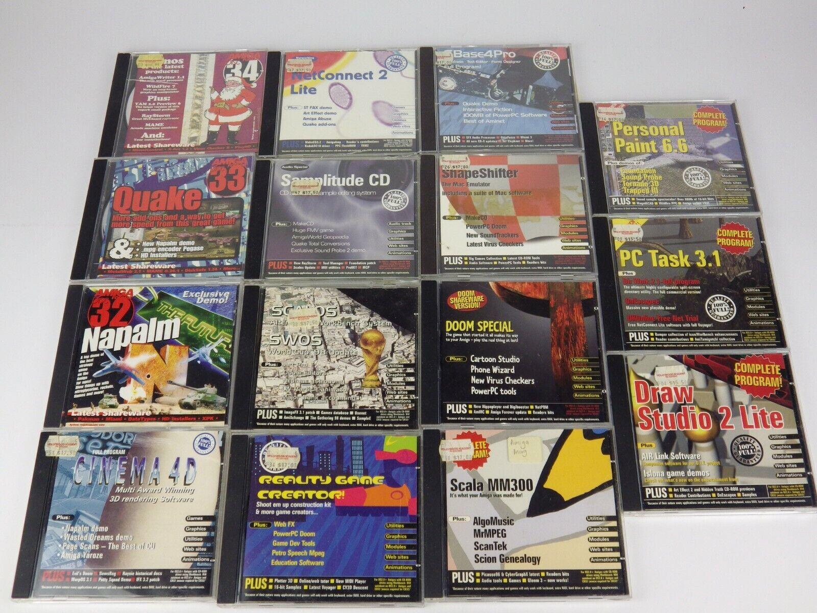 Computer Games - 46 x Commodore Amiga Magazine CD Games & Programs - For Big Box Amiga & CD32