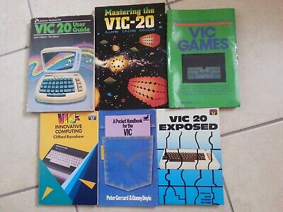 A bundle of 6 programming books in English for Commodore VIC-20