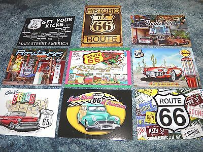 Ultimate Lot of 9 Postcards ROUTE 66, America's Highway Travel Car, Road Map etc