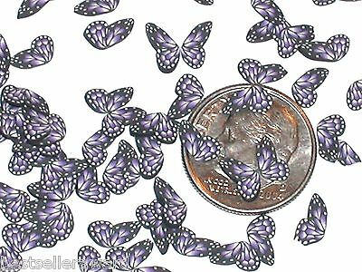 15pc Super tiny Magical Butterfly fairy Wings Purple dot Miniature for bottle NW
