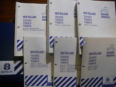 New Holland Repair Manual Tn75fa Tn85fa Tn95fa Tractor Free Shipping In Usa