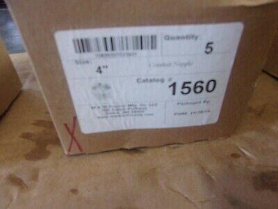 Lot Of 4 Mw Electric 1560  4 Conduit Nipple