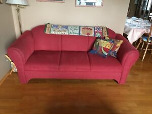 Red Corduroy couches for sale