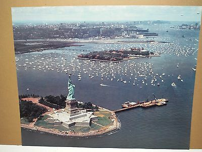 Statue Of Liberty New York Aerial Poster Print