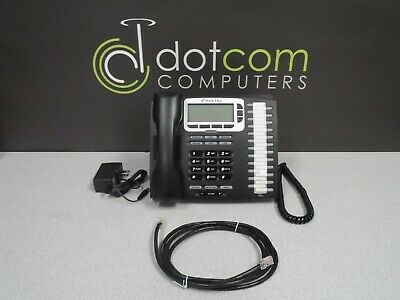 Allworx Paetec 9224 9224p Voip Display Phone Power Supply Ethernet Curly Cord