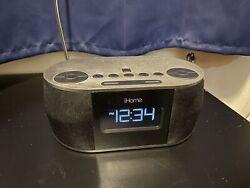 iHome iBT38 Single Charge Alarm Clock Radio Dock For Apple UBS iPhone NO ADAPTER