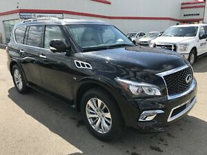2017 INFINITI QX80 LEATHER/DUAL DVD/SUNROOF/CERTIFIED RATES OF 1