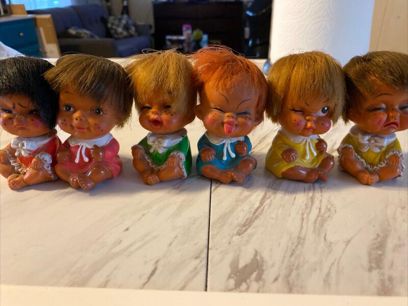 Rare vintage korean rubber dolls