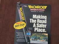 Monroe Shocks Struts retro garage workshop metal wall sign plaque