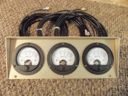 Bird 43 Thruline Watt Meter Triple Meter RMS / New Gold