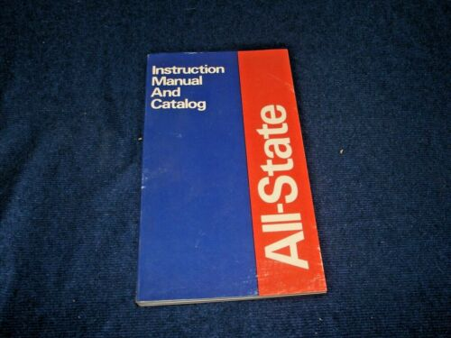 Vintage All-State Instruction Manual and Catalog