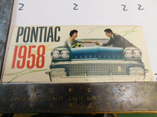 1958 PONTIAC SALES BROCHURE    DEALER USE ORIGINAL