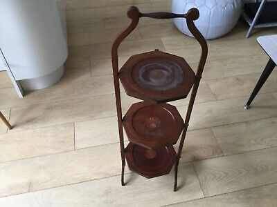 Vintage Wooden Folding Cake Stand for refurb project