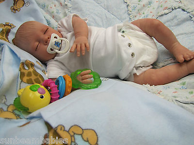 VERY LOW STOCK ***  CHILD FRIENDLY NEW REBORN BABY BOY DOLL SOFT SILICONE VINYL