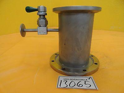 Fuji High Vacuum Nipple Tee Qf100 Lf Rotatable Iso100 Iso-f Ss-dltw4 6.75 Used