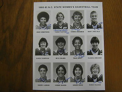 1980-81 NC State Women's Basketball Photo(12 Sign/MARY JANE WILD/ANGIE ARMSTRONG