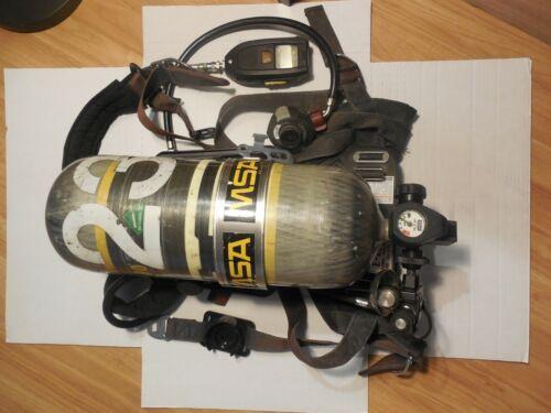 MSA AirHawk Harness & Tank SCBA 2216 PSI 30 Min Carbon wrapped Tank Cylinder