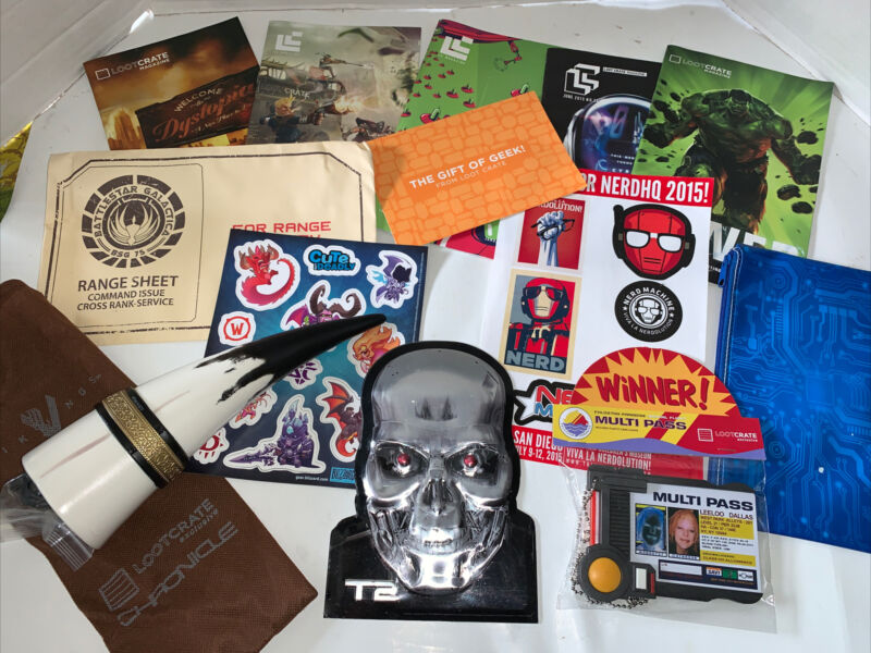 Loot Crate Loot Box Lot Miscellaneous Items Powderhorn, Magnets,pass Etc