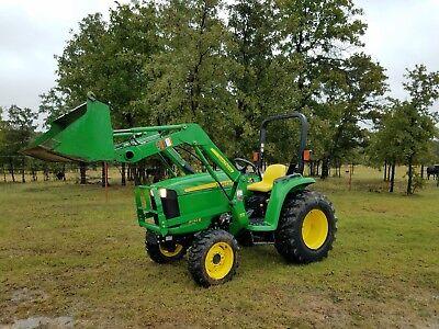 2013 John Deere 3032e 4x4 Compact Tractor W Loader Only 309 Hrs 32 Horsepower