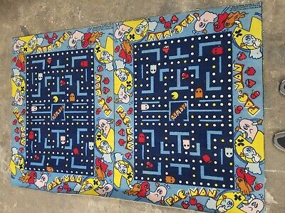 Vintage Pac-Man Carpet Rug LARGE 1980s Midway Bally Official Retro Rare 4x6ft