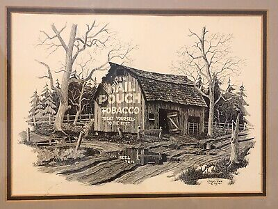 Doug Tope Old Tobacco Advertising Barn Print