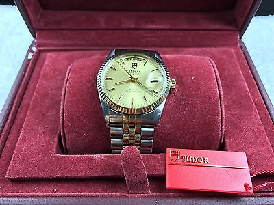 ROLEX TUDOR 94613 Oyster Prince Day-Date 18k/SS Mens Watch W/Rolex 18k/SS Band
