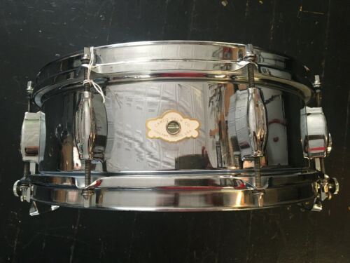 "Camco Super 5""X14"" chrome over brass snare drum."