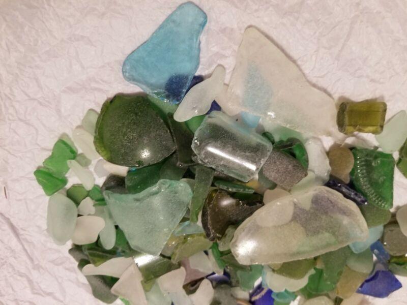 Lot of more than 250 Pieces GENUINE Beach Sea Glass - Cape Cod