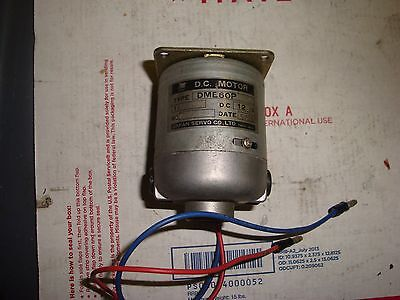 Japan Servo Co. Ltd Pn Dme60p 12 Volt Free Shipping