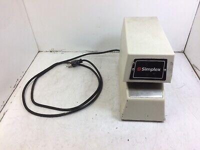 Simplex 1605-9001 Time Stamp Clock W Keys