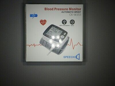 Wrist Blood Pressure Monitor with USB Charging, 180 Reading Memory Mode, Voice  for sale  Shipping to India