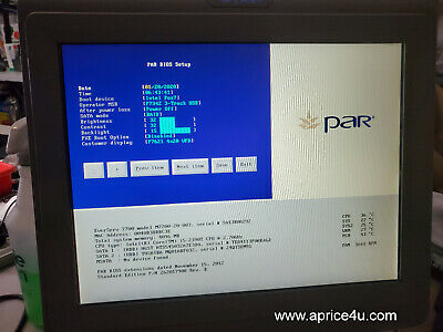 Par Partech M7700 Pos System Everserv 7000 M7700-20-003 Touch Screen I5