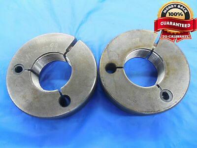 1.4864 14 Ns 2a Thread Ring Gages Go No Go P.d.s 1.4383 1.4328 Uns-2a