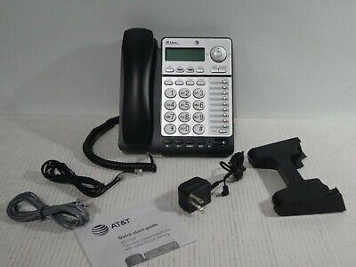 Att Ml17928 2-line Office Phone Corded Phone Blacksilver New