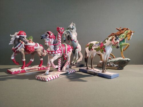 Trail of Painted Ponies Christmas Figurines 2020
