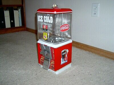 Northwestern Coca Cola Restored Gumball Machine Classic Coke Is It Keychain