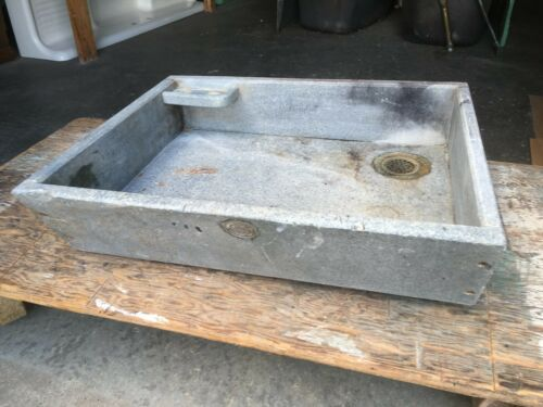 "Antique 30"" Single Basin Soapstone Sink Old Farmhouse Country Kitchen 184-19E"