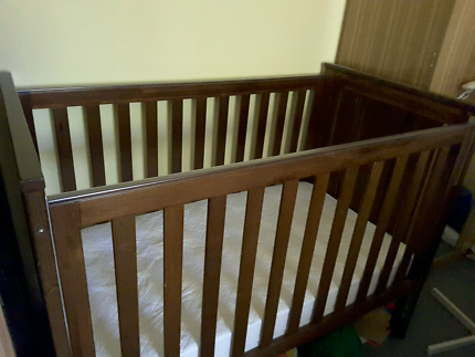 Childcare Balmoral Cot Which Converts Into Toddler Bed With Matt