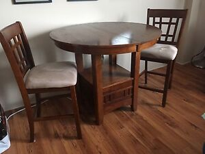 Dining Table and 2 Stools